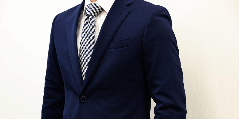ジャージー素材のスーツ